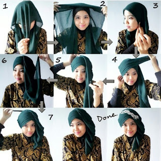 Tutorial Hijab Segitiga Turban