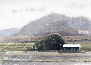 Countryside Watercolor 田園風景2 水彩画