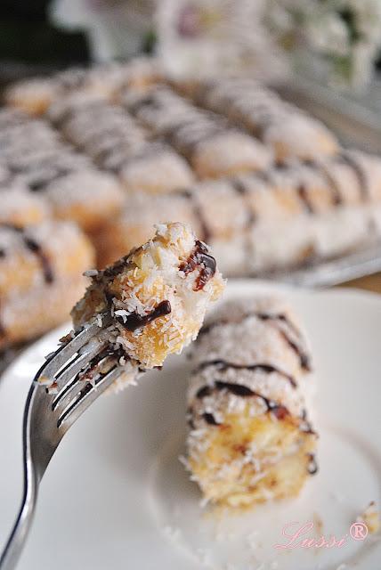 Лесни пасти Рафаeло / Ladyfingers mini cakes Raffaello