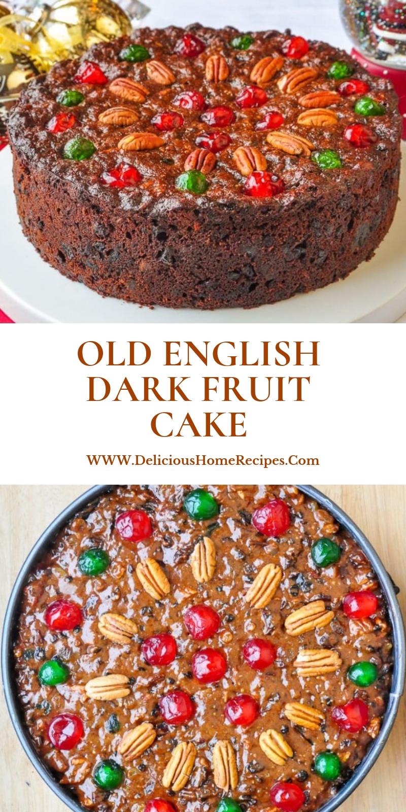 Old English Dark Fruit Cake #christmas #dinner