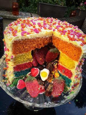 My Gluten Free Rainbow Piñata Cake
