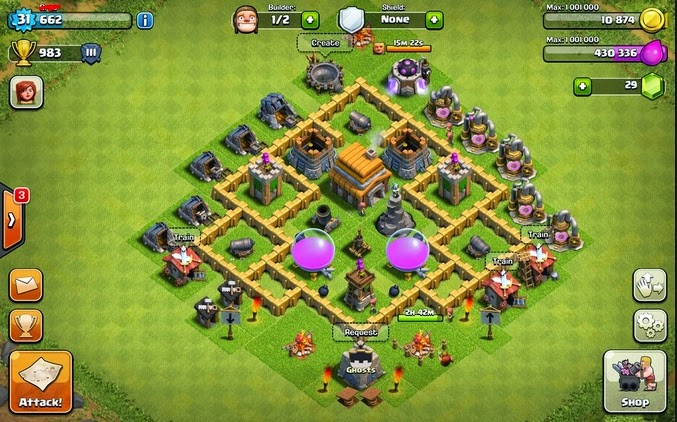 Base Coc Th 5 Anti Rata 5
