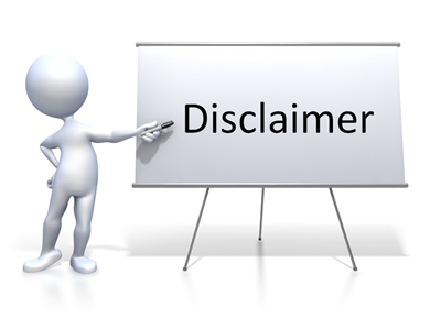 disclaimer versmed