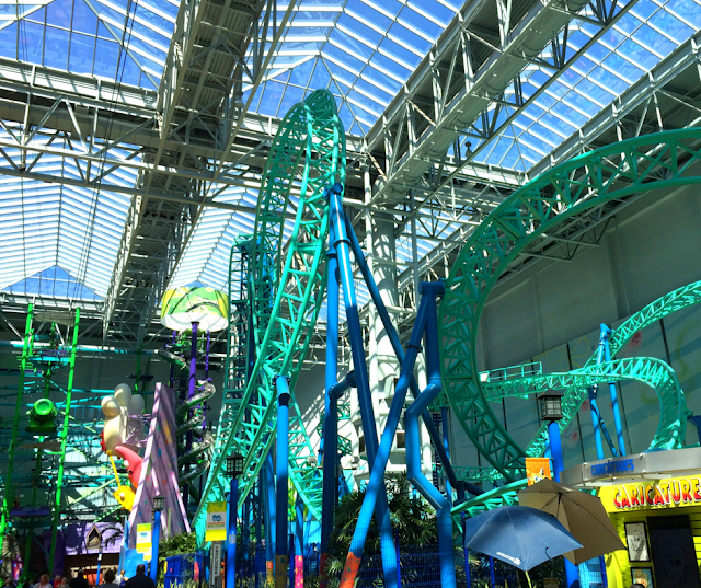 A maze of roller coasters and amusements at Nickelodeon Universe