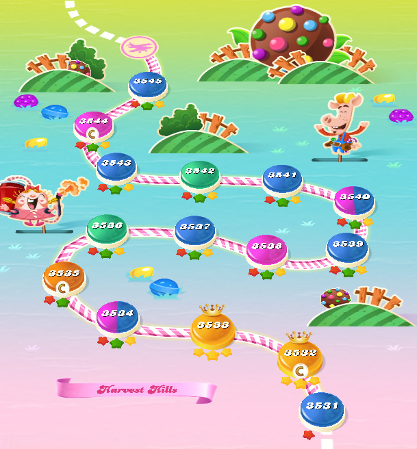 Candy Crush Saga level 3531-3545