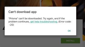 play store error code