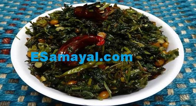 கீரைப் பொரியல் செய்முறை | Spinach fry recipe !