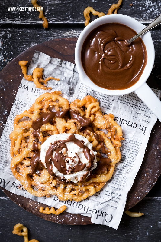 Strauben Rezept Funnel Cake Recipe Bourbon Chocolate Sauce