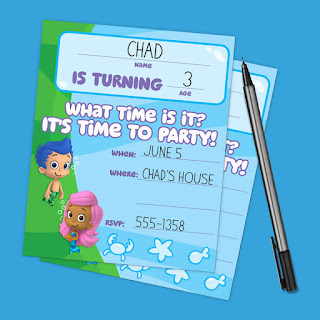 free bubble guppies invitations