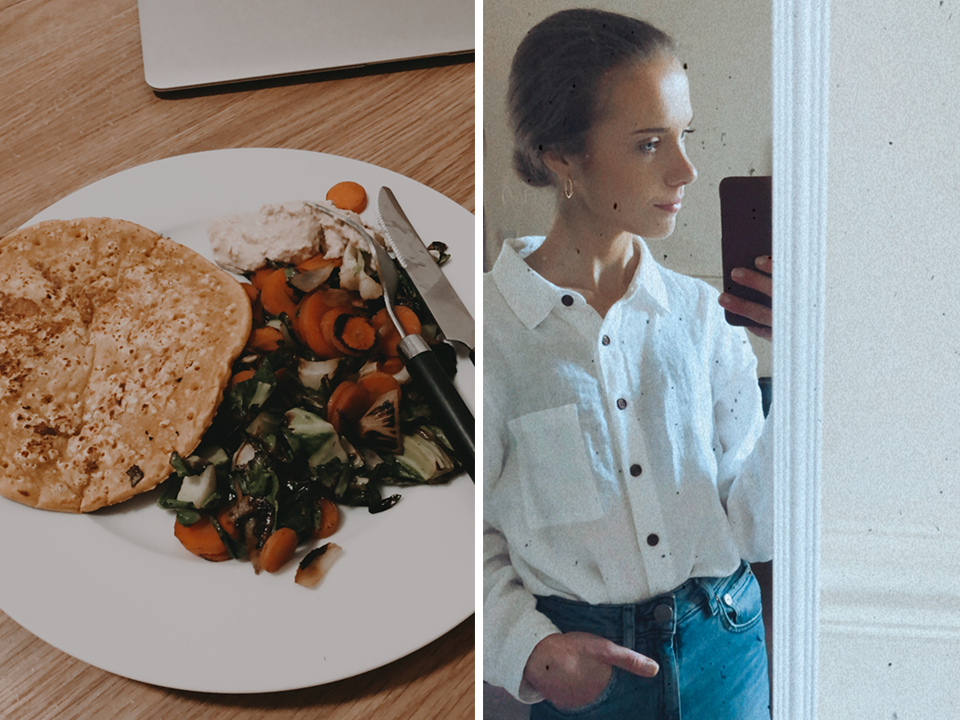 Vegan chickpea omelette + spring fashion - vegaaninen kikherneomeletti + kevätmuoti