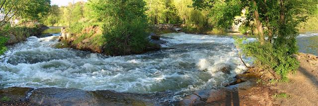 Водопад-порог - панорама