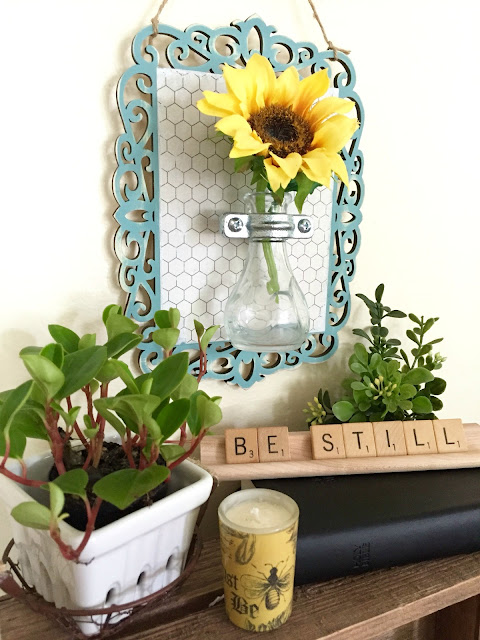hanging flower vase sconce craft idea