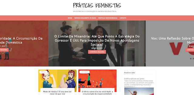 Relançamento do blog Práticas Feministas