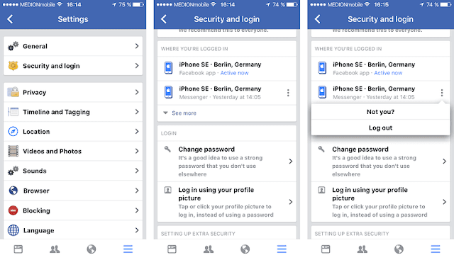 facebook messenger keluar aplikasi facebook ios