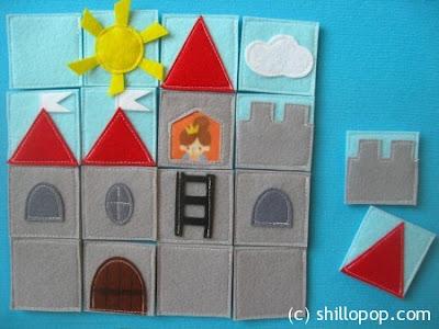 http://en.shillopop.com/felt-castle-puzzle/