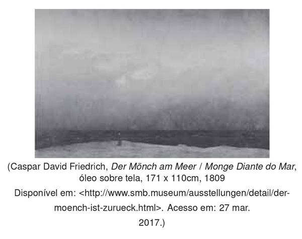 Caspar David Friedrich, Der Mönch am Meer - Monge Diante do Mar, óleo sobre tela, 171 x 110cm, 1809