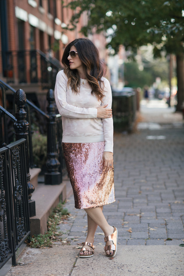 rose gold skirt