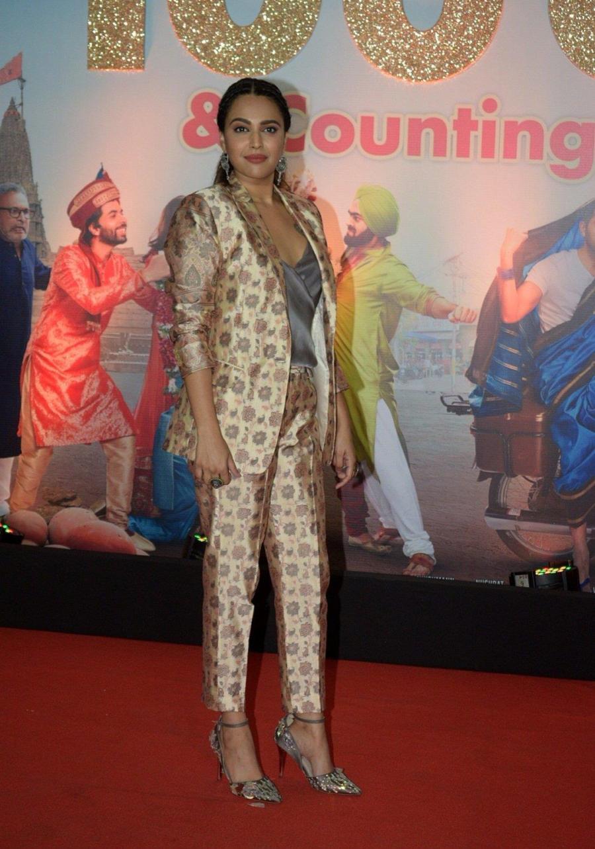 Indian Model Swara Bhaskar at Success Party Of Film Dream Girl