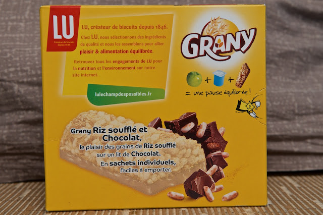 Grany Riz Soufflé et Chocolat LU - Barre de céréales