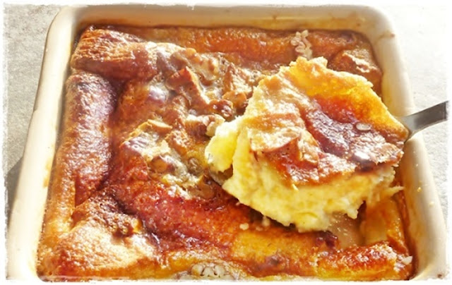 egg nog bread pudding, Christmas breakfast