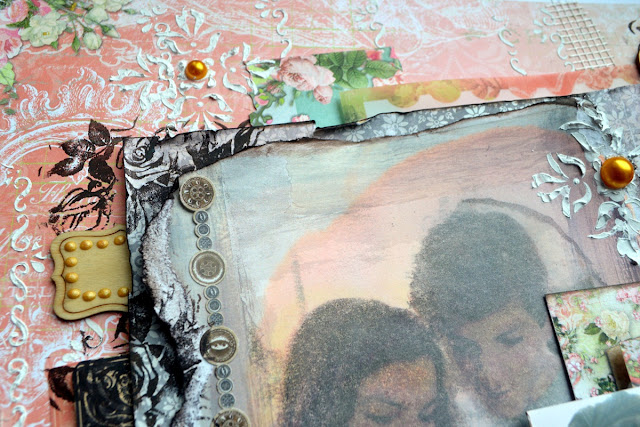 Look at that scrapbook page by Agnieszka Bellaidea BoBunny featuring Soiree collection