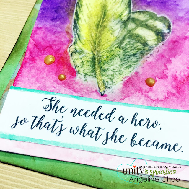 ScrappyScrappy: Her own hero #scrappyscrappy #unitystampco #card #stamp #gansaitambi #watercolor #distressink