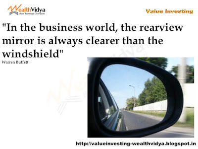 Picture Conceptualises that Rearview Mirror is Clearer than the Windshield