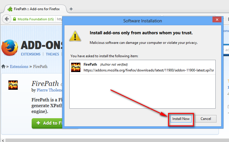 Selenium-By-Arun: 5  Install Firepath Addon for Firefox