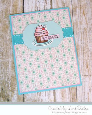 Hey Cupcake card-designed by Lori Tecler/Inking Aloud-stamps from Avery Elle