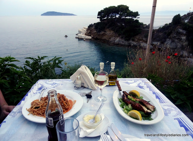 Skiathos, Greece: Stroll and Dinner with a View at Plakes Taverna