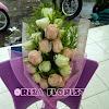 Buket Mawar Import Peach + Putih