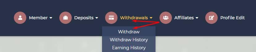 Вывод средств в DepositCase