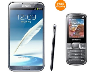 Samsung Galaxy Note 2 N7100 for Rs.25566 OR  Get Samsung Galaxy Note-2 N7100 with Samsung E2252 Mobile for Rs.26316 @ Ebay