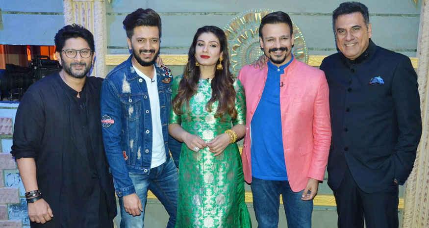 Arshad Warsi, Riteish Deshmukh and Raveena Tandon on The Sets of 'Sabse Bada Kalakar'