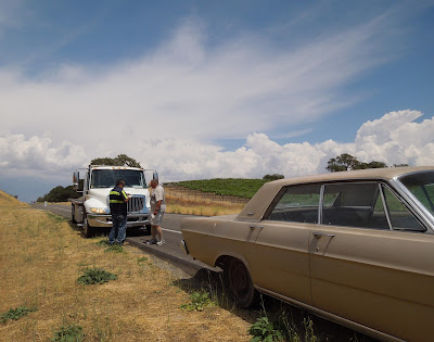 Car Break-Down on Hwy 46 W, Paso Robles, © B. Radisavljevic