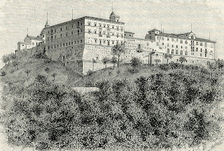 The historic Abbey of Monte Cassino, where D'Aquino was sent to study as a child and where he stayed before his death