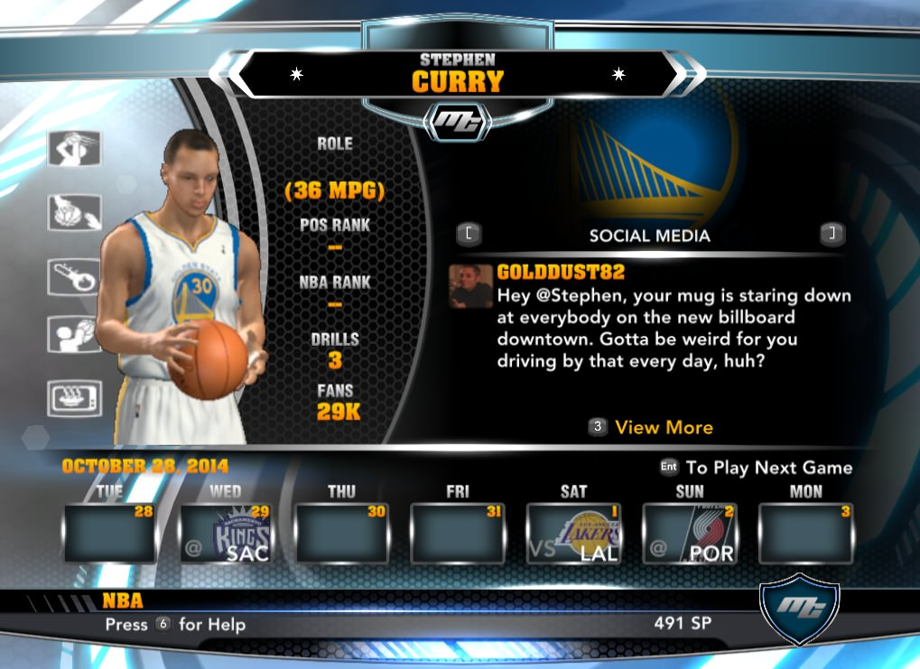 nba 2k14 Stephen Curry mycareer patch download hoopsvilla