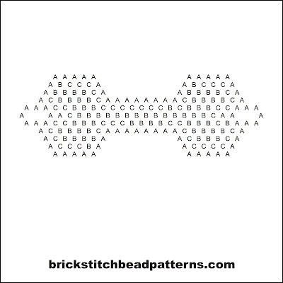 Click for a larger image of the Human Skeleton Bone Halloween bead pattern word chart.