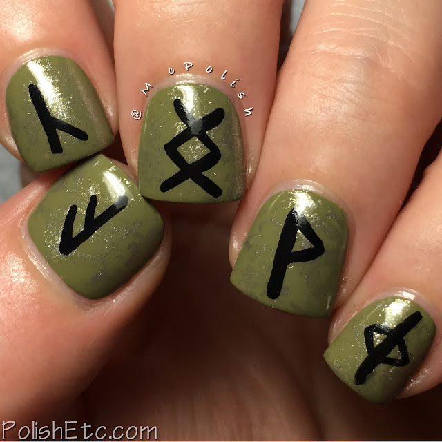 Druid rune symbols for the #31DC2017Weekly - McPolish