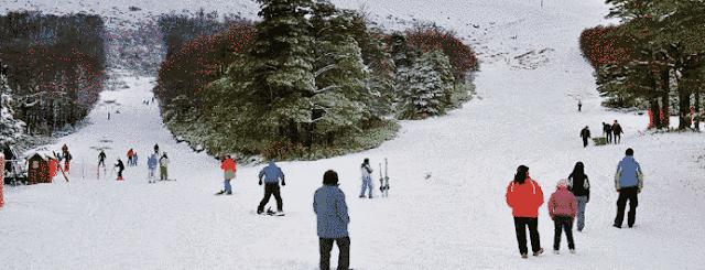 Ski slopes in Antillanca Ski Center, Chile.