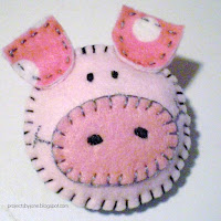 Pig Brooch tutorial