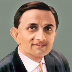 Vikram Sarabhai was born on Aug. 12, 1919 in a rich family. His basic interests were maths and physics and in order to provide facilities of study in physics to the country, he established Physical Reseande Laboratory. His first love was the study of cosmic rays, but he is better known as a man to usher the space age in India. The credit for much of what India achieved in space technology goes to him though he did not live to see the fruits of his labour.