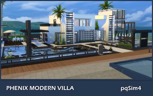 Phenix Modern Villa. Sims 4 Custom Content