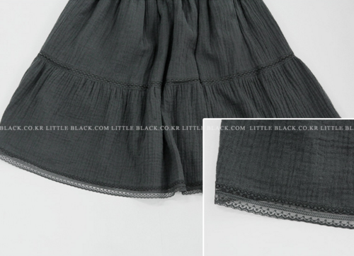 Lace Tiered Circle Skirt