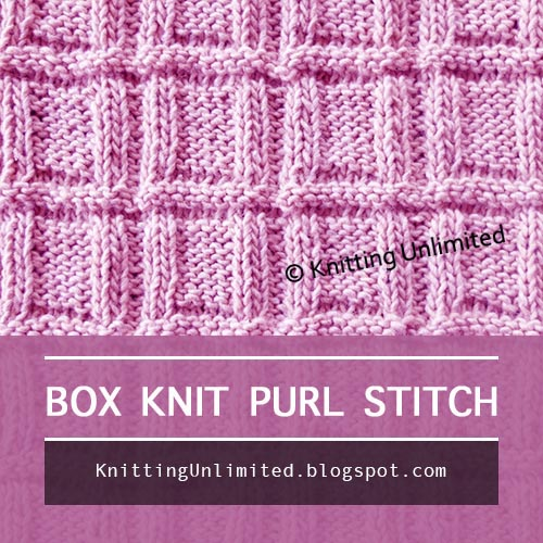Box Knit Purl | Knitting Stitch Pattern for Beginning Knitters