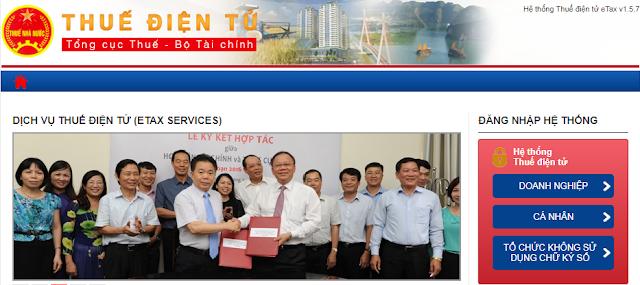 Hướng dẫn nộp thuế điện tử Thuedientu gdt gov vn