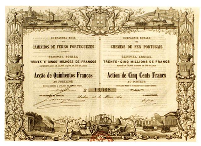 Resultado de imagem para COMPANHIA REAL DOS CAMINHOS DE FERRO PORTUGUESES