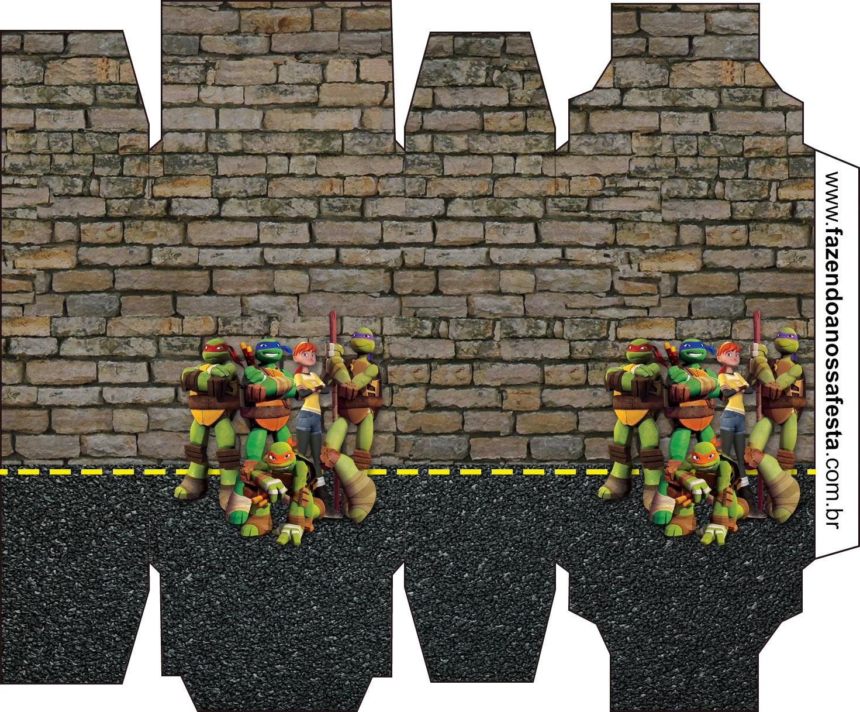 Tartarugas Ninjas Mini Kit Com Molduras Para Convites Rotulos