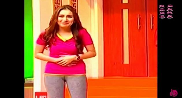 Foto Belahan Miss V Ayu Ting Ting Terlihat Jelas di Acara 'Ada Ada Aja' GlobalTV