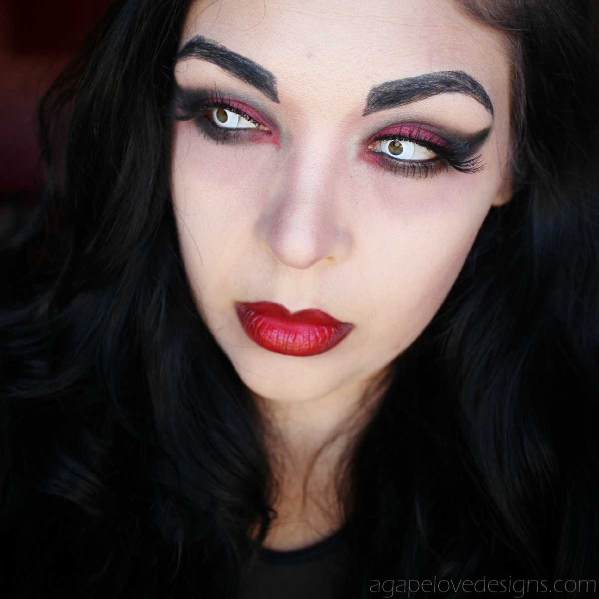 Thanks to makeup artist Sarah Ahmad, who runs the Instagram @beautanica, we've broken down each step to recreate this Victorian vampire makeup look. Watch the video above and follow along below.